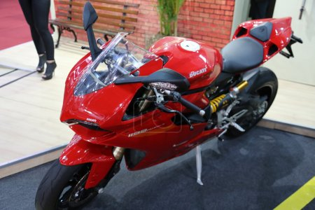 Motorcycle Ducati 1199 Panigale Red