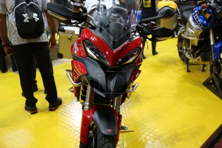 Motorcycle ducati red touratech