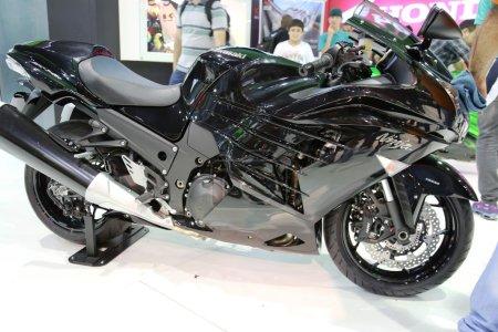 Мотоцикл Kawasaki черная модель ниндзя