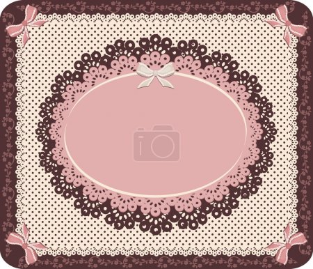 Illustration for Retro style. Vintage the image for dressing and decorating. - Royalty Free Image