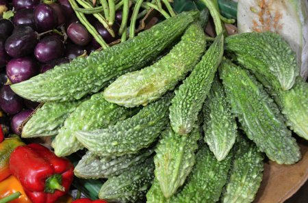 Food market with fruits and vegetables in Kandy Sri Lanka