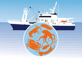 Catching commercial marine animals