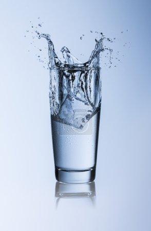 Drinking water splash dew ice ice diet health willi cup mineral water drink glass