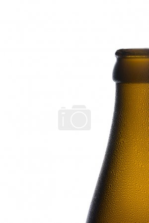 Beer bottle bottleneck condensation dripping brown chilly dew beer froth brewery disco summer party