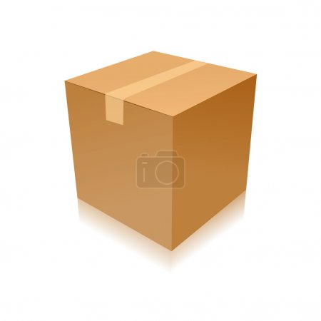 Parcel parcel delivery transport box cardboard delivery parcel shipment tracking logistics