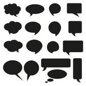 Talking bubble set speech bubble thought bubble icon bubble help answer mindmap internet advertising faqs comic