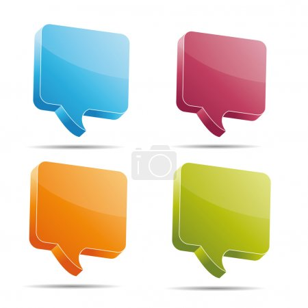 Speech bubble set on white background created in A...
