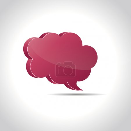 Speech bubble on white background created in Adobe...