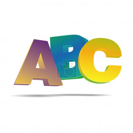 3D abstraction abc alphabet letter elementary school corporate logo design icon sign