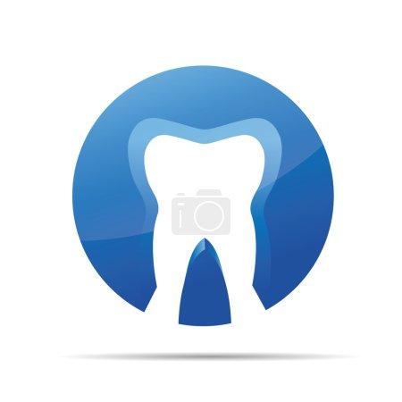3D dental dentist doctor corporate design icon logo trademark