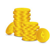 Bank credit coin capital credits gold money tal € vector rewarding sweetheart symbol credit