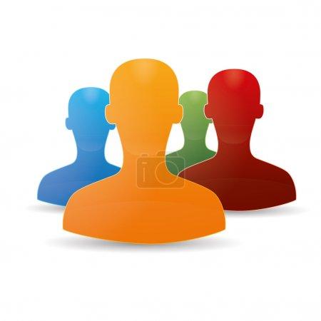 Figure chat network social set community teamwork communal chat forum service marketing partner
