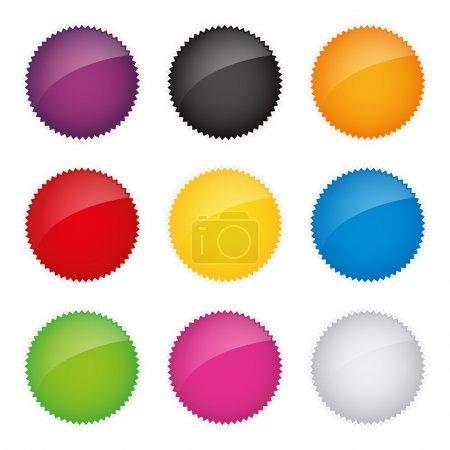 Badges badge set shop collection advertising placard sticker label web button action