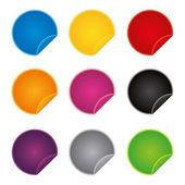 Abzeichen-Abzeichen Shop Kollektion Werbung Plakat Aufkleber Label Web Aktion der Schaltfläche festlegen