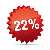 22 twenty-second percent reduced Discount advertising action button badge bestseller free sale