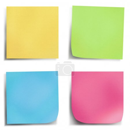Four colour post it note