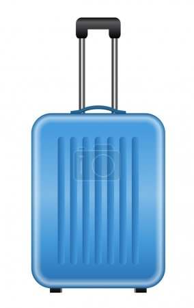 Illustration for Vector illustration of blue suitcase - Royalty Free Image