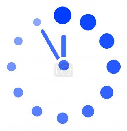 Illustration pour Icône d'horloge de vecteur - image libre de droit