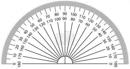 Vector illustration of protractor