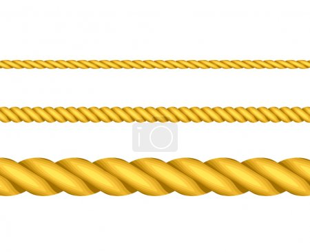 Illustration for Vector illustration of gold ropes - Royalty Free Image