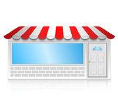 Vector illustration of shop