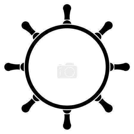 Illustration for Vector illustration of steering wheel - Royalty Free Image