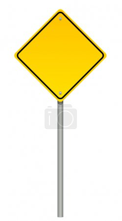 Vector illustration of warning sign