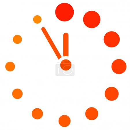 Illustration for Vector red clock icon - Royalty Free Image