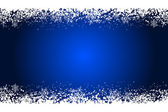 Vector blue frame with snowflakes