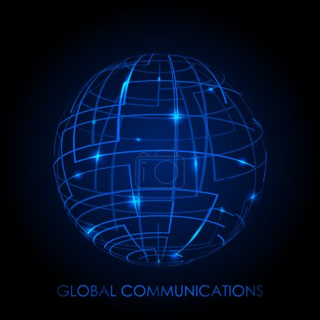 Global communications - vector background