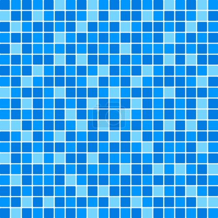 Illustration for Vector blue tile wall - Royalty Free Image