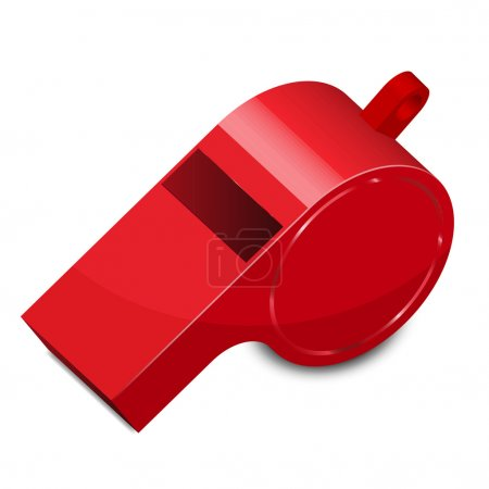 Vector illustration of whistle