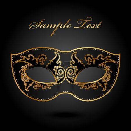 Illustration for Mystery - vector background with ornate mask - Royalty Free Image