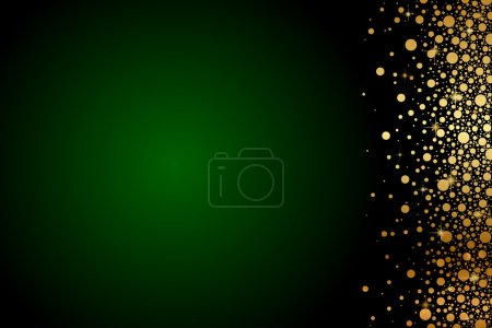 Illustration for Vector green and gold luxury background - Royalty Free Image