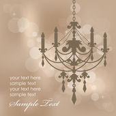 Vector brown background with chandelier