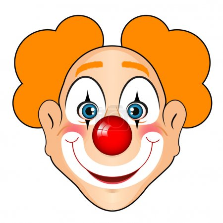Illustration for Vector illustration of smiling clown - Royalty Free Image