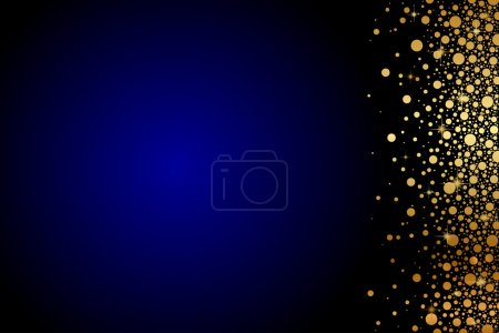 Illustration for Vector blue background with gold confetti - Royalty Free Image