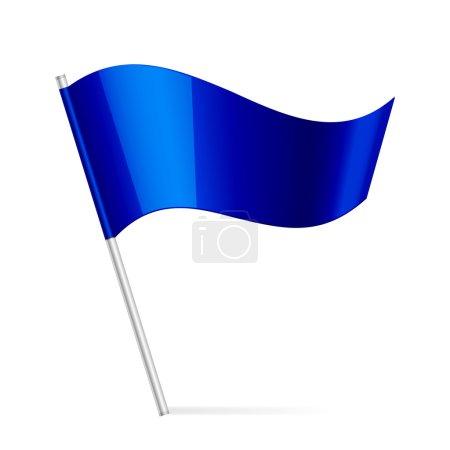 Illustration for Vector illustration of blue flag - Royalty Free Image