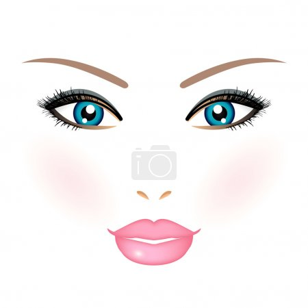 Vector illustration of woman face