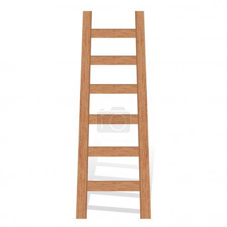 Vector illustration of wooden ladder