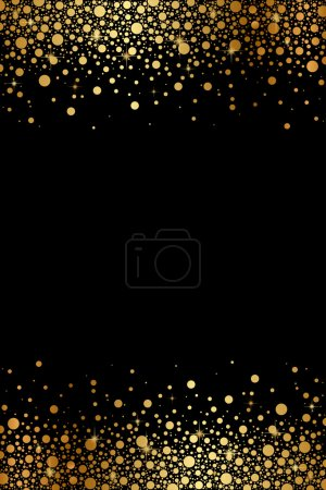Illustration for Vector black and gold luxury frame - Royalty Free Image