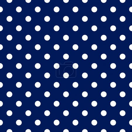 Vector seamless pattern - blue with white polka dots
