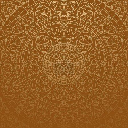 Vector brown oriental background