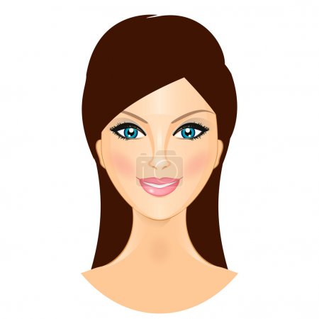 Illustration for Vector illustration of beautiful smiling woman - Royalty Free Image