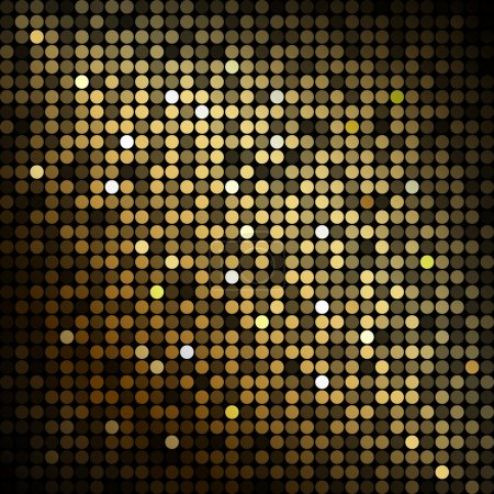 Illustration for Gold disco lights - vector abstract background - Royalty Free Image