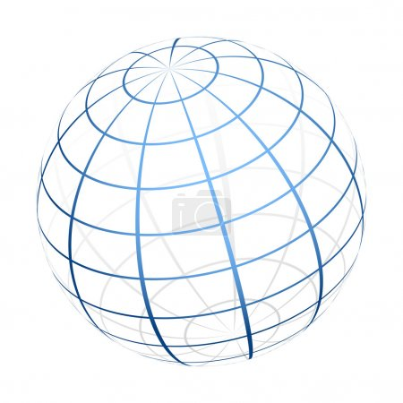 Illustration for Vector globe icon - Royalty Free Image