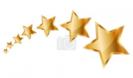 Vector illustration gold stars