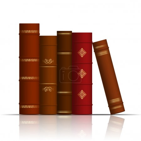 Vector illustration of old books...