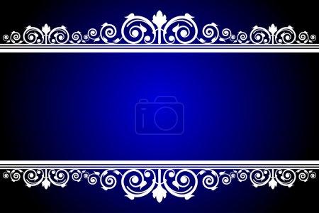 Illustration pour Cadre vectoriel bleu et blanc - image libre de droit