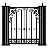 Vector illustration of vintage gate